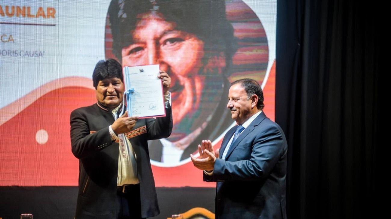Evo Morales, declarado Doctor Honoris Causa por la Universidad Nacional de La Rioja