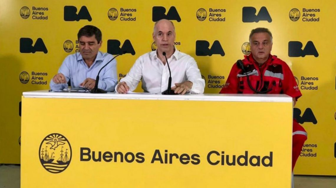 Horacio Rodríguez Larreta announced new measures to combat the spread of COVID-19 together with the Minister of Health, Fernán Quirós.