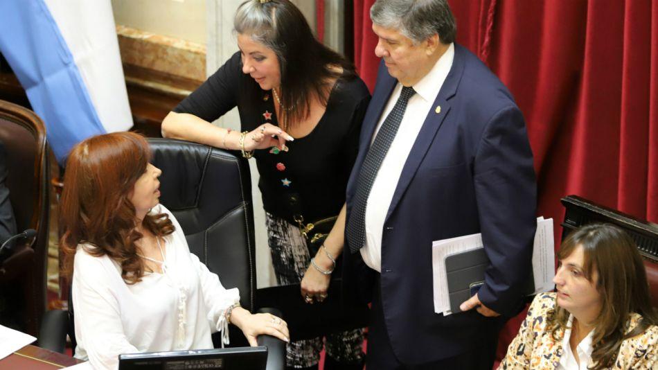 El senador José Mayans y Cristina Kirchner