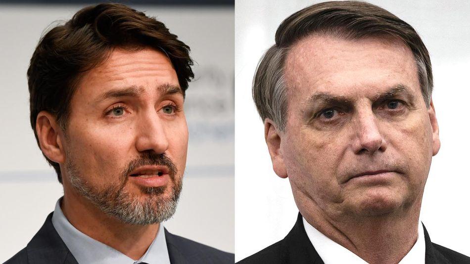 Justin Trudeau Jair Bolsonaro 20200312
