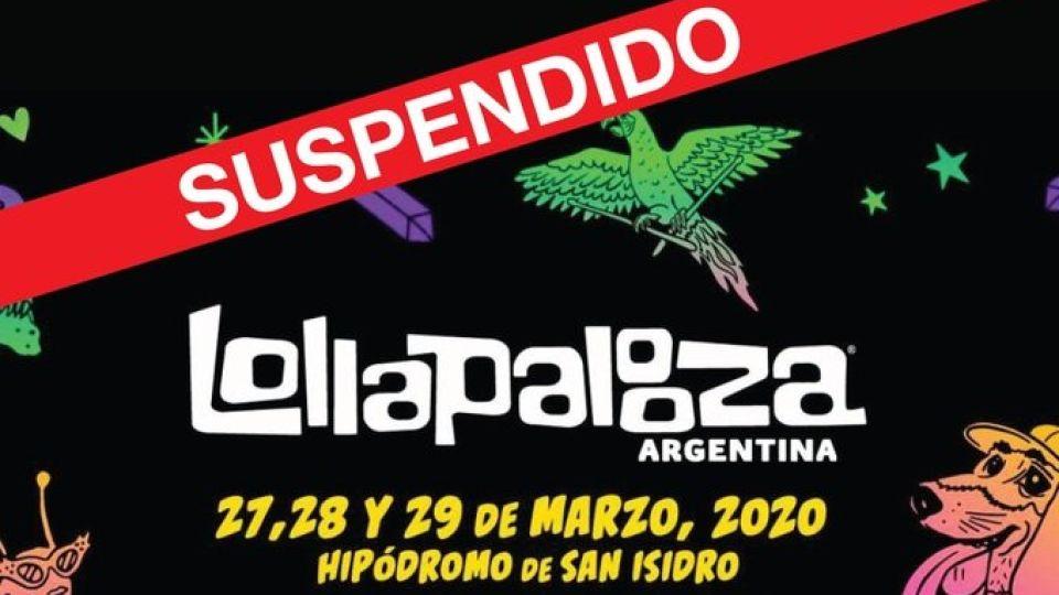 Coronavirus: El festival Lollapalooza suspendido