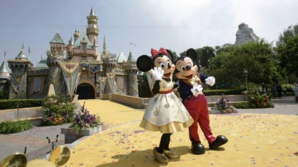 El parque de diversiones de Disney en California.
