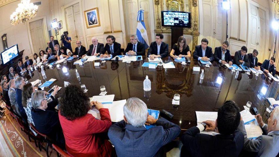 Alberto Fernández en conferencia en Casa de Gobierno 20200313