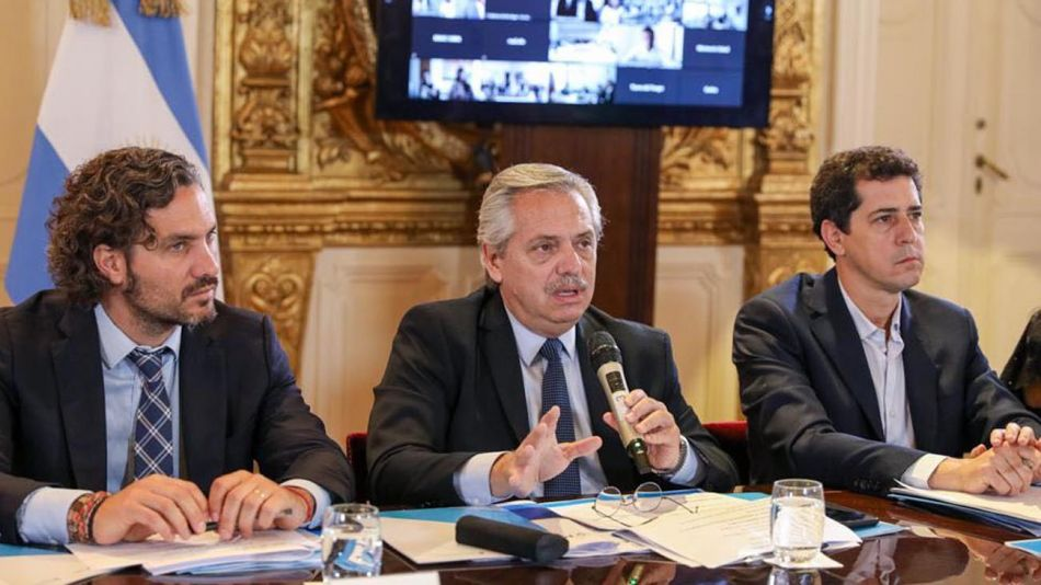 Alberto Fernández en confgerencia en Casa de Gobierno 20200313