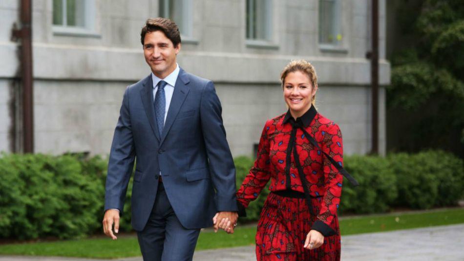 Justin Trudeau y su esposa, Sophie