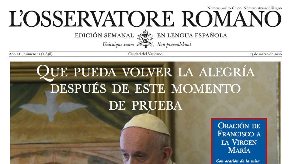 Nueva del Osservatore Romano.