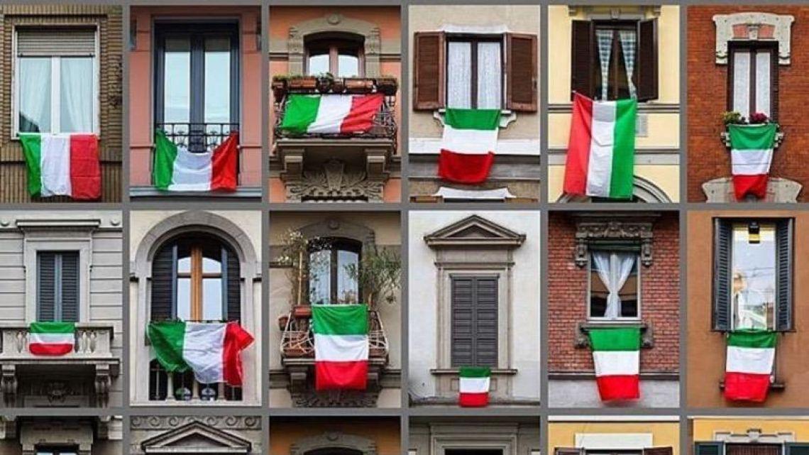 VIDEO | Cantando en los balcones, así pasan la cuarentena en Italia