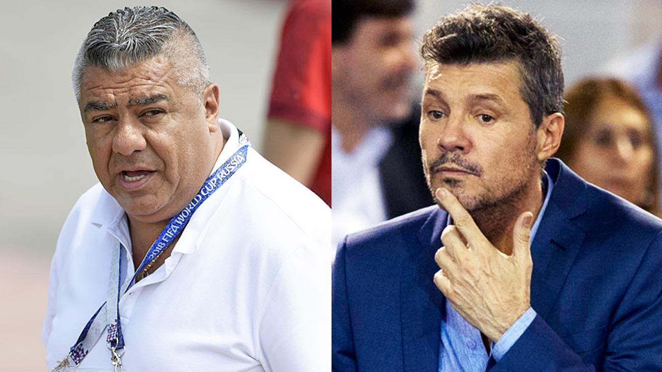 Prioridades alteradas. Tapia, presidente de AFA, y Tinelli, de Superliga.