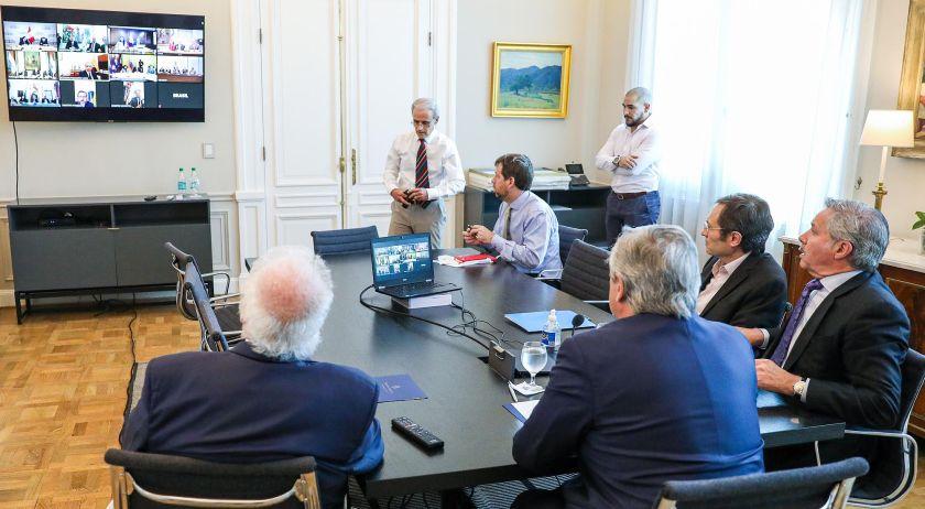 Alberto Fernández participó de una videoconferencia con mandatarios de la región — Coronavirus