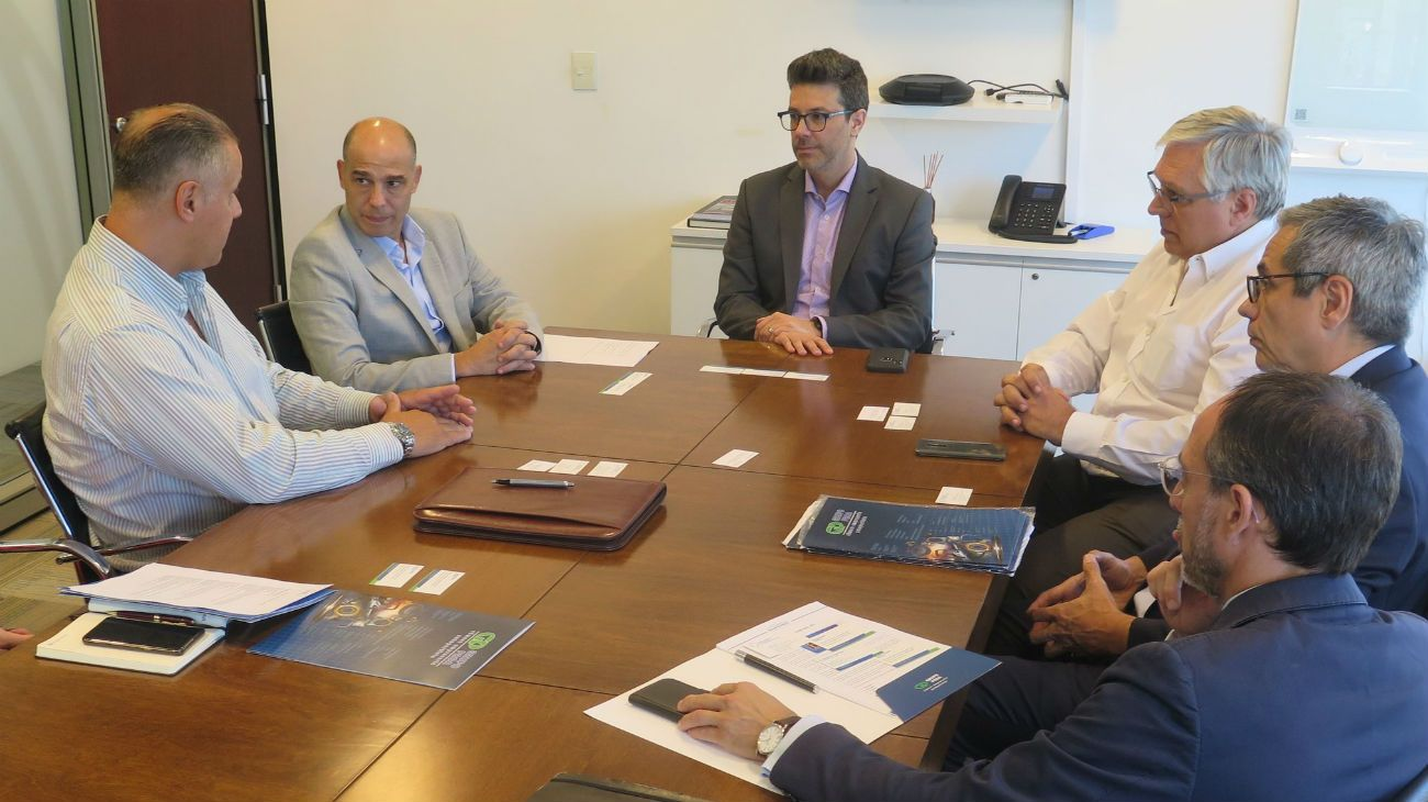 Una de las últimas reuniones, en febrero, de las autoridades de la Agencia Argentina de Inversiones con empresarios.