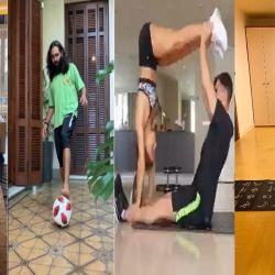 Los deportistas promueven ejercitarse durante la cuarentena   Foto:Cedoc