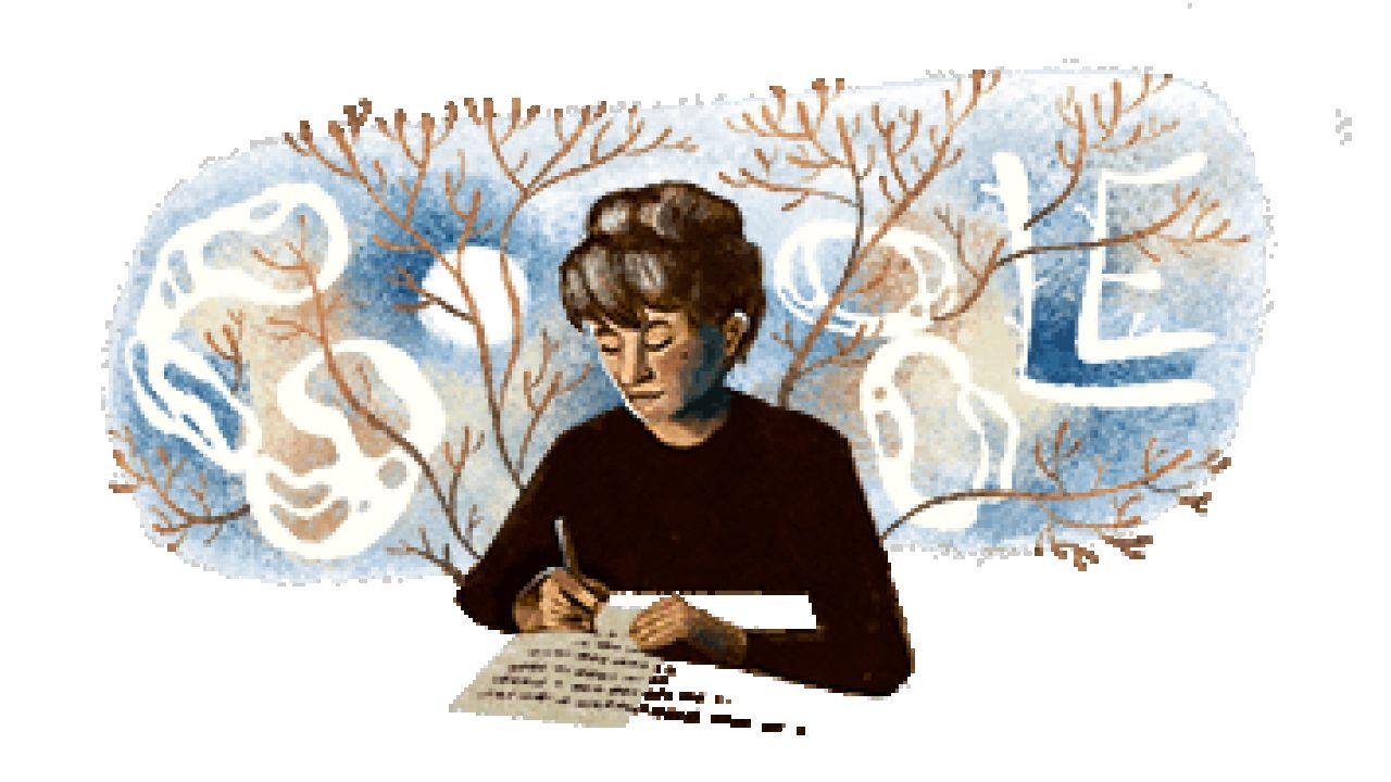 Doodle del 17 de marzo en homenaje a Olga Orozco.   Foto:Google