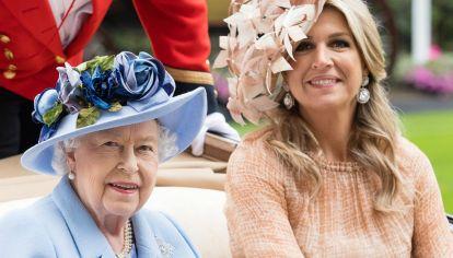 Isabel II de Inglaterra y Máxima de Holanda.