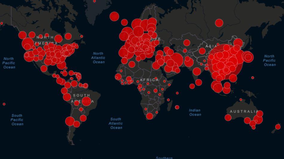 mapa coronavirus 17 de marzo