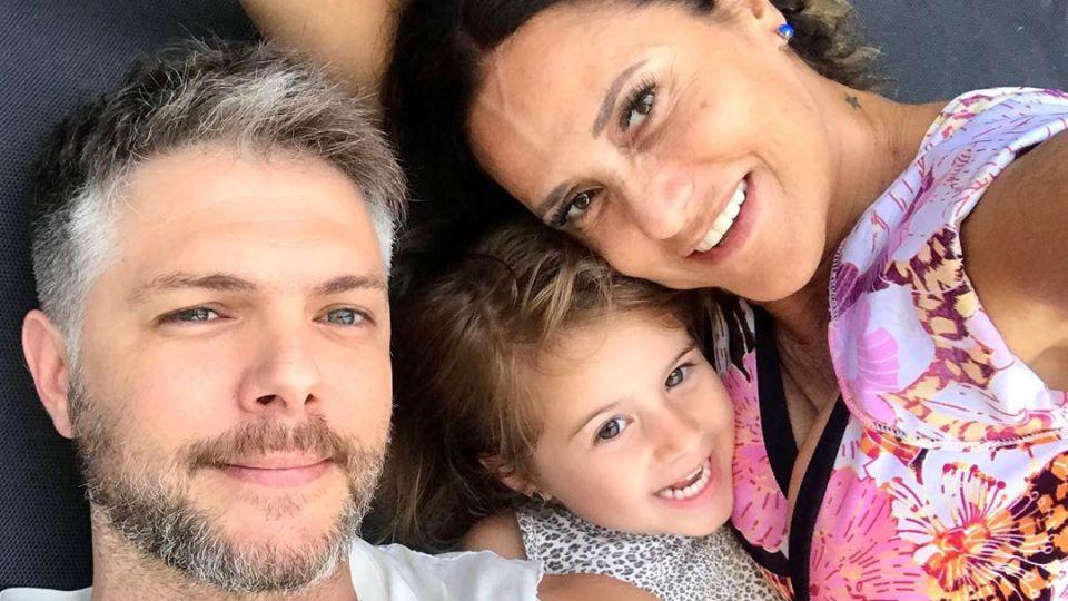 María Fernanda Callejón, Ricky Diotto y su hija Giovanna