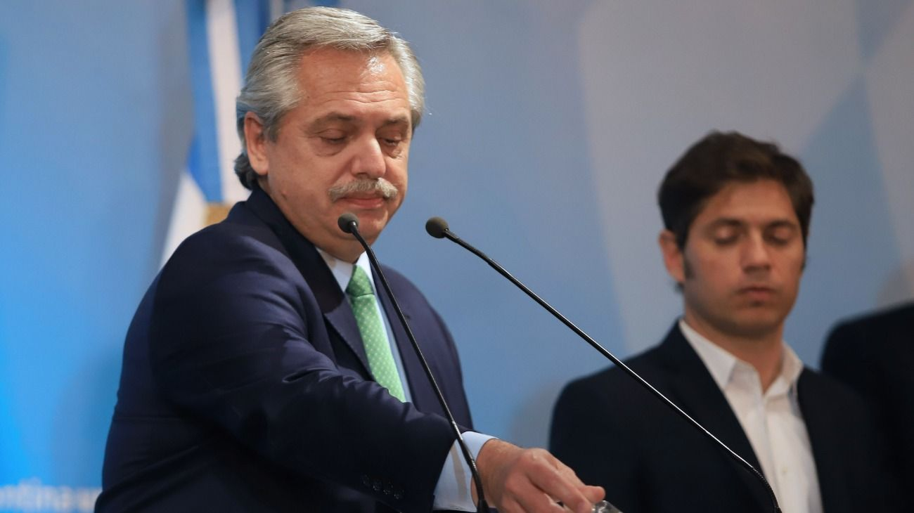 Alberto Fernández anunció la cuarentena total.