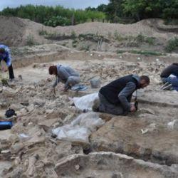 Se cree que se utilizaron huesos de mamut para su construcción debido a la falta de árboles en la zona.