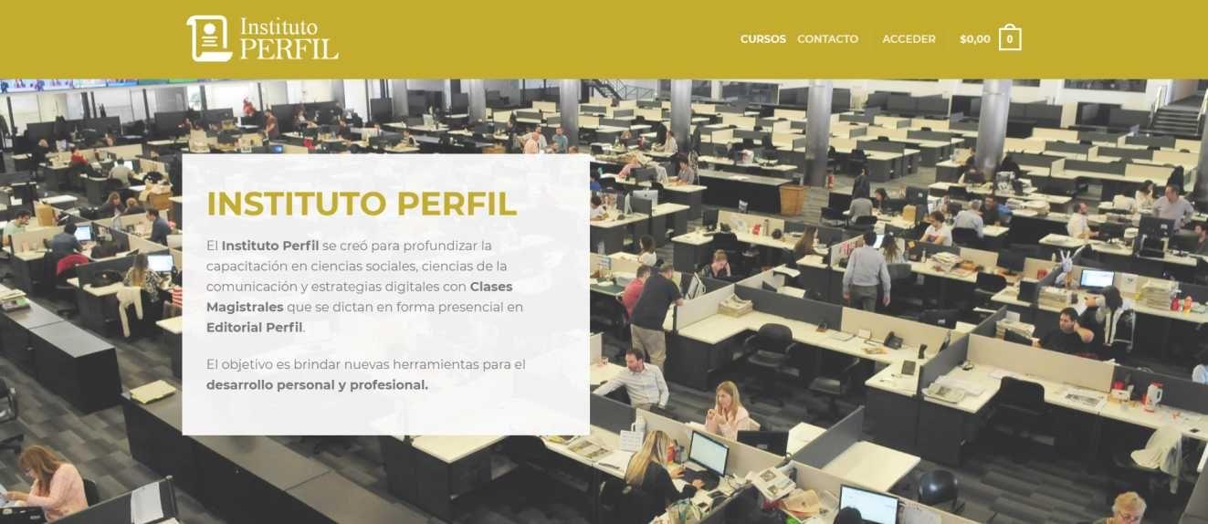 La nueva web de Instituto Perfil