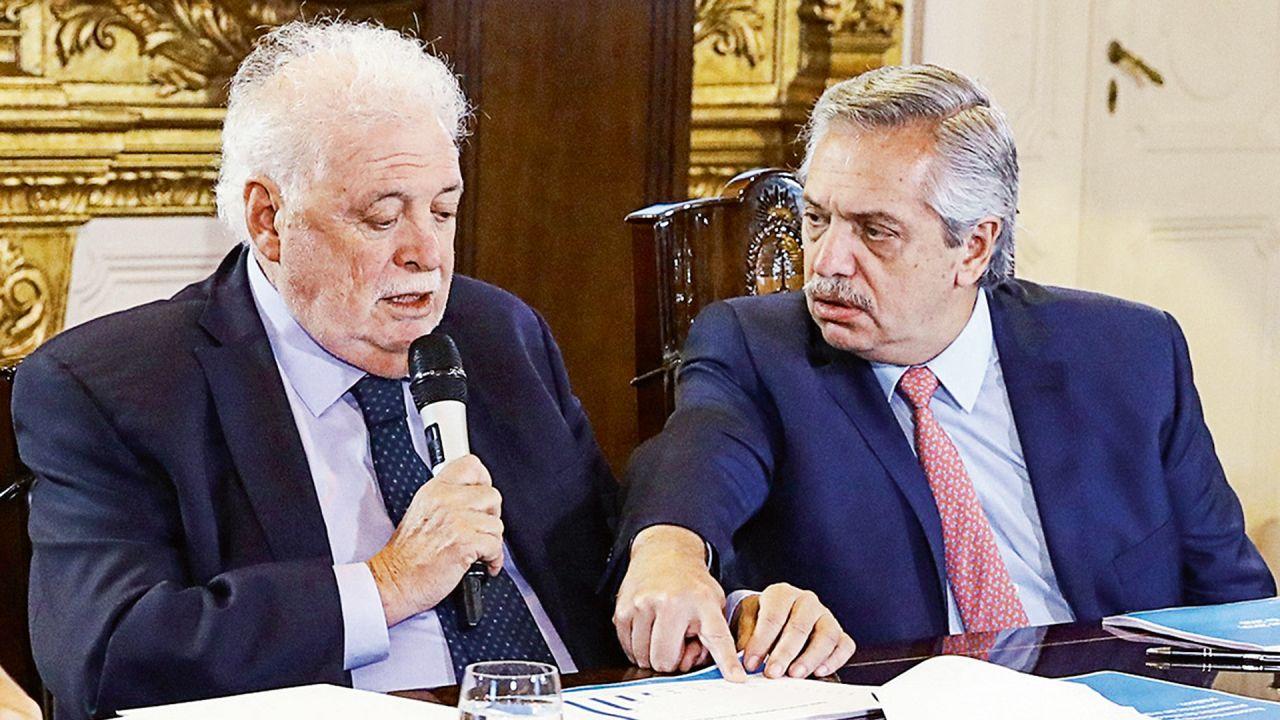 Ginés González García y Alberto Fernández | Foto:cedoc