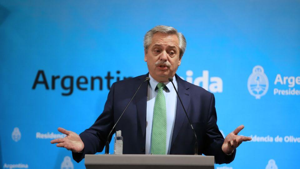 Alberto Fernández anunció la cuarentena obligatoria.