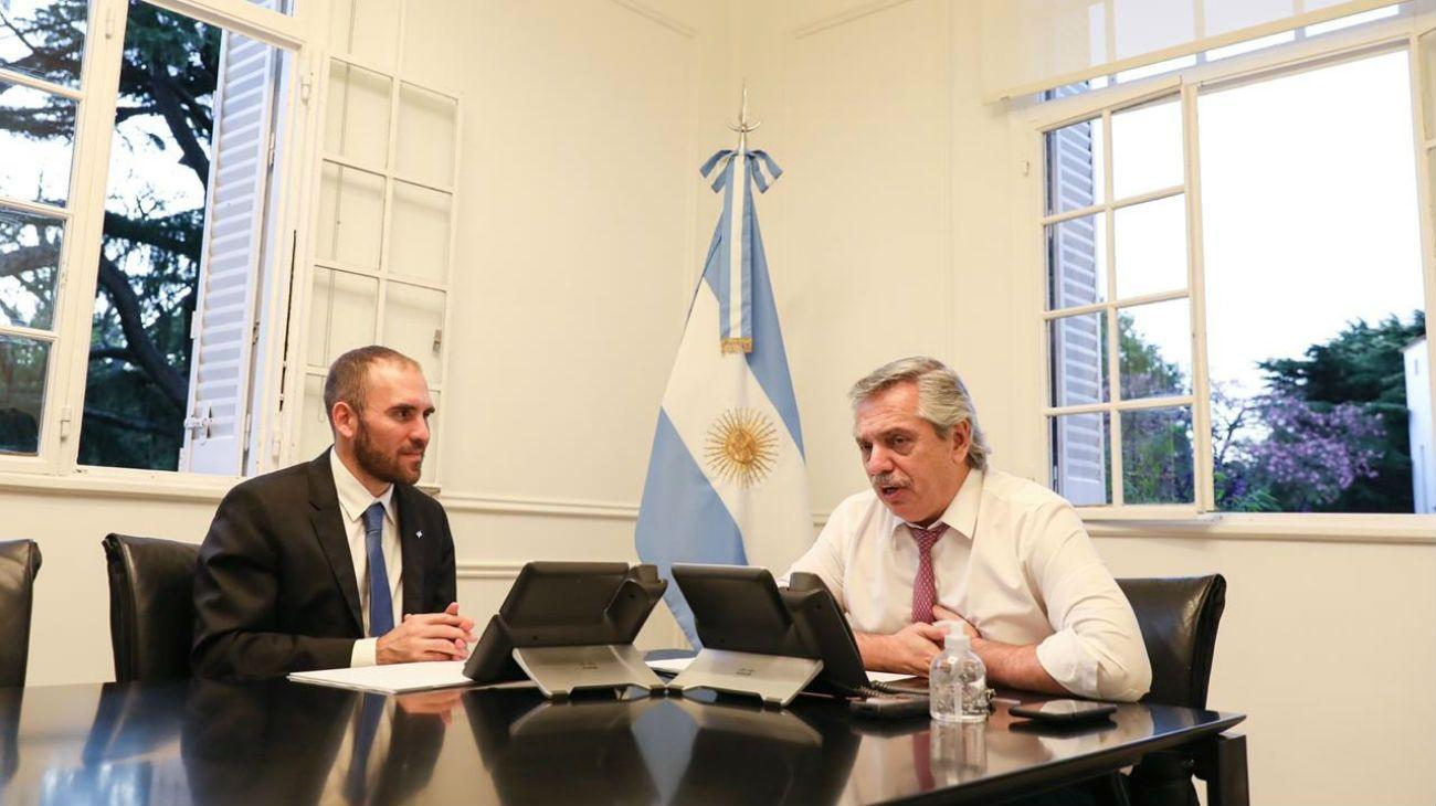 COORDINACION. El ministro de Economía y el presidente Fernández hablaron con Georgieva.