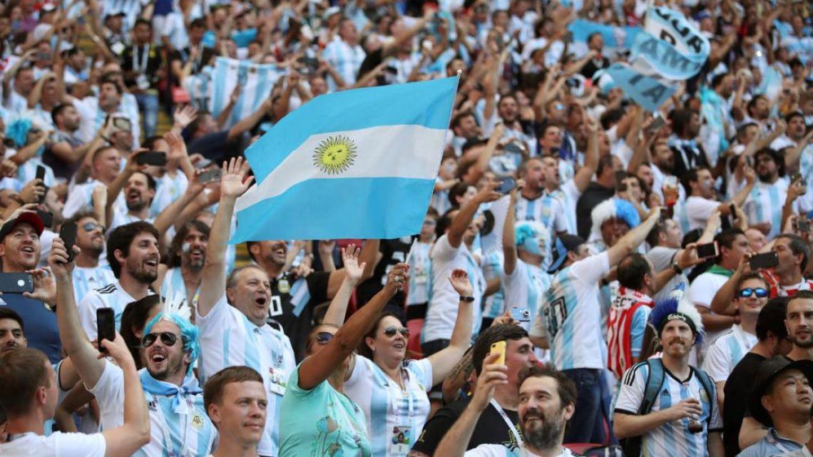 Hinchada Argentina | Foto:Cedoc