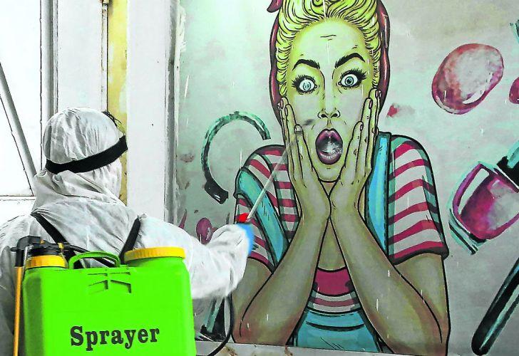 mural miedo sorpresa coronavirus 20200321