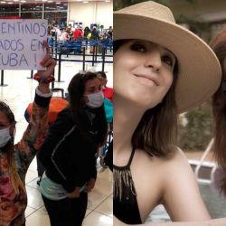 Cristina y los varados en Cuba | Foto:Cedoc y gentileza El Litoral