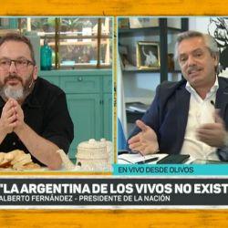 Alberto Fernández con Gerardo Rozin | Foto:cedoc