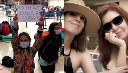 Cristina y los varados en Cuba