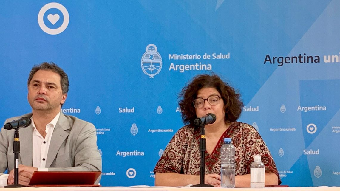 The Secretary of Health Access, Carla Vizzotti, the Undersecretary of Health Strategies, Alejandro Costa, provided details of the epidemiological situation in Argentina on Sunday. NA