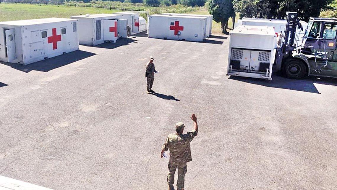 Hospital modular militar | Foto:Cedoc