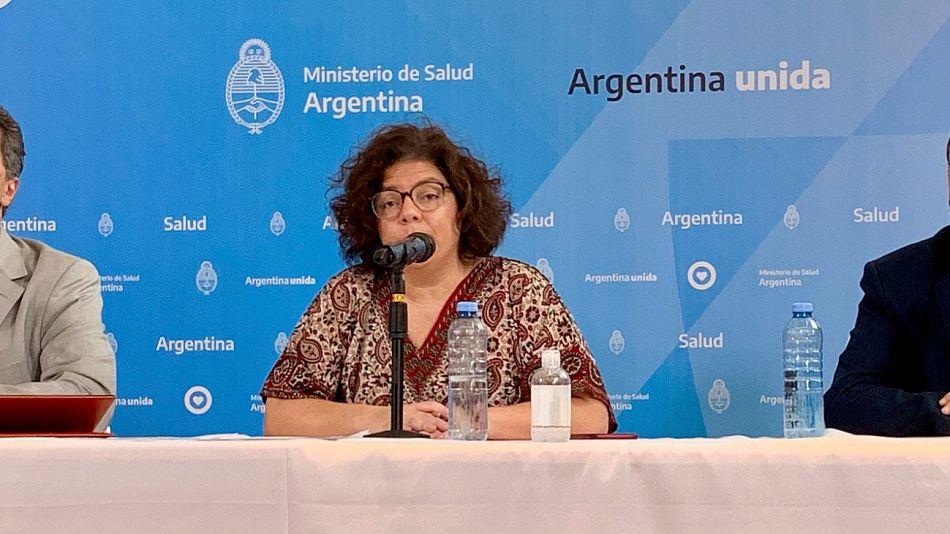 Carla Vizzotti, secretaria de Acceso a la Salud, en conferencia de prensa