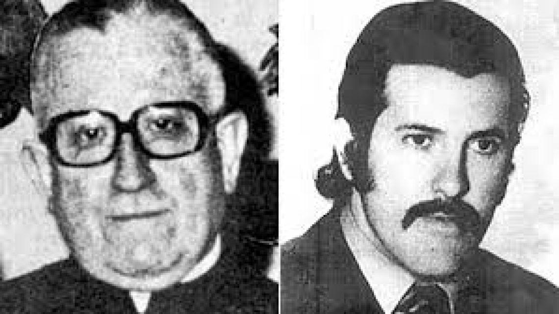 Monseñor Plaza y su sobrino desaparecido. | Foto:CEDOC.