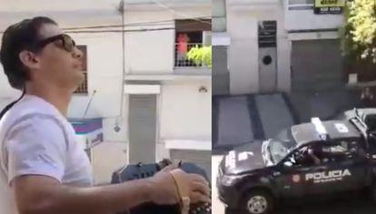 VIDEO: El recital del hijo de un heladero que emocionó a vecinos y policías