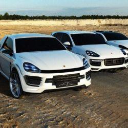 Boceto digital del Porsche Traykan creado por Adel Bouras.