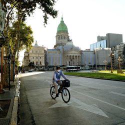 La Ciudad en cuarentena. | Foto:Pablo Cuarterolo