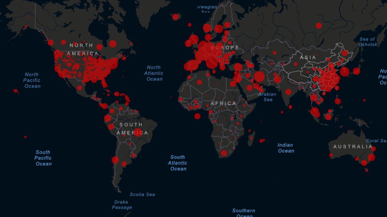 Mapa del coronavirus: más de 450.000 casos declarados en el mundo