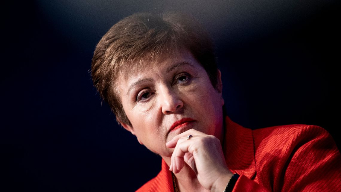 International Monetary Fund Managing Director Kristalina Georgieva listens during an event at the World Bank on February 10, 2020 in Washington, DC.