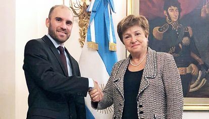 Auxilio. Se mantiene la sintonía entre Georgieva y Guzmán.