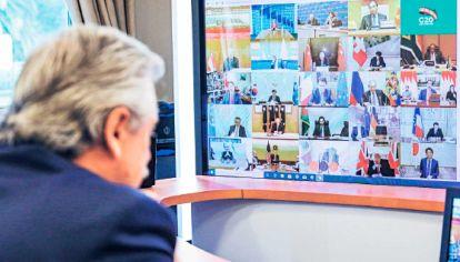 G20. Alberto F. participó de la cumbre-web organizada por Arabia.