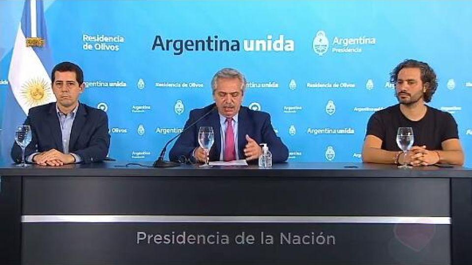 Alberto Fernández y Santiago Cafiero