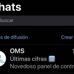A través de WhatsApp ya es posible chatear con la OMS.