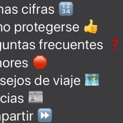 La OMS habitó un WhatsApp oficial en español.