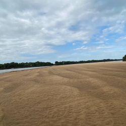 Bajante histórica del Paraná.