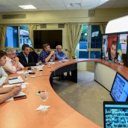 Videoconferencia con Ishii. | Foto:CEDOC.