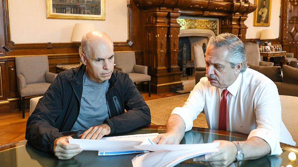 Horacio Rodríguez Larreta y Alberto Fernández