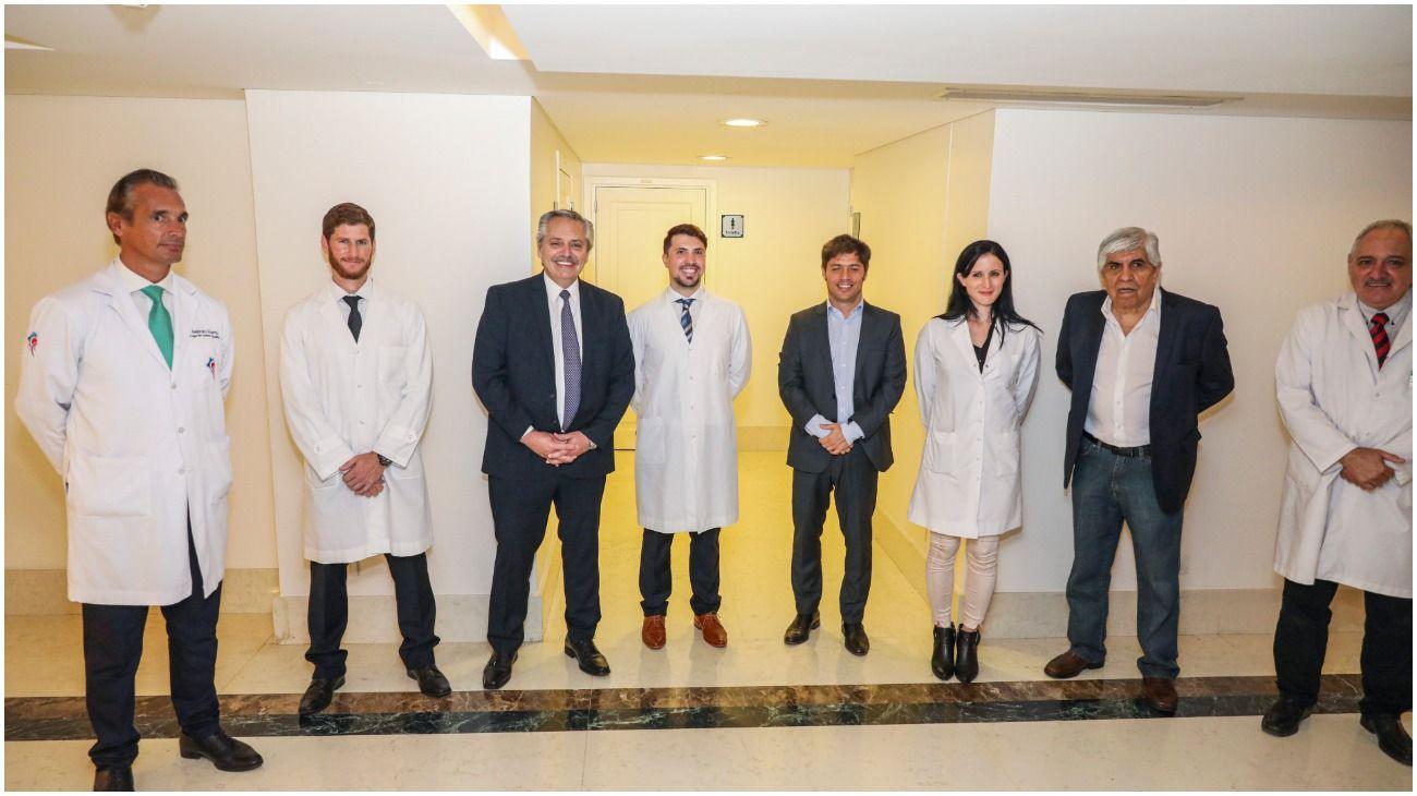 Alberto Fernández inauguró con Hugo Moyano el Sanatorio Antártida para atender bonaerenses contagiados por Covid-19.