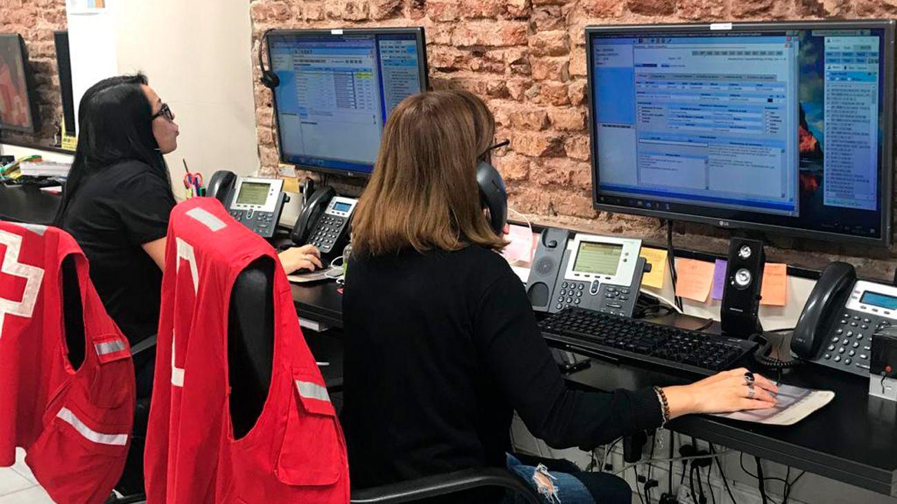 Centro de monitoreo de la Cruz Roja