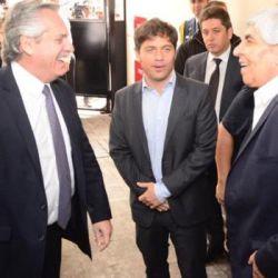 Alberto Fernández, Kicillof y Hugo Moyano | Foto:Cedoc